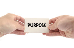 Purpose text concept Royalty Free Stock Image