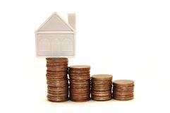 The purpose - to buy the house Stock Photo