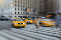 Purposely Blurred traffic in NYC royalty free stock photos