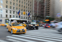 Purposely Blurred traffic in NYC Stock Photography