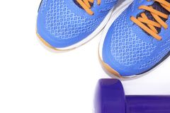 Sport and sneakers stock photography