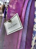 Purpur-Bindungen, Goodman-` s Männer ` s Speicher, Bergdorf Goodman, NYC, NY, USA Lizenzfreies Stockfoto