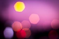 Purpur blured bokeh Stockbilder