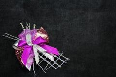 Purpur bow Arkivfoton
