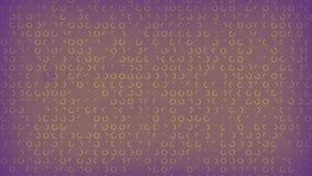 Purpur farbiger alter Papierhintergrund mit Animation von gelben Kreiszeichen Wiedergabe 3d 4K, ultra HD-Entschlie?ung lizenzfreie abbildung