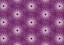 Purpur farbiges abstraktes Wiederholungsmuster lizenzfreie abbildung