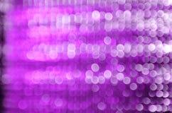 Purpur i bielu plamy bokeh Zdjęcie Stock
