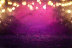 Purpur i menchii błyskotliwości świateł tło defocused zdjęcia stock