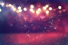 purpur i menchii błyskotliwości rocznika światła zdjęcie stock