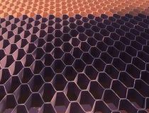 Purpur i menchii Honeycomb wzór Zdjęcie Royalty Free
