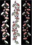 Purpur i menchii kwiaty Ilustracyjni Obraz Stock