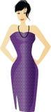 purpur kvinna Arkivfoto