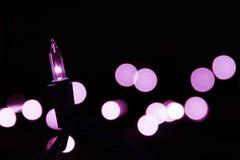 Purpur lampa Royaltyfria Bilder