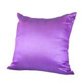 Purpur oder Violet Pillow Isolated auf weißem Hintergrund Stockfotos