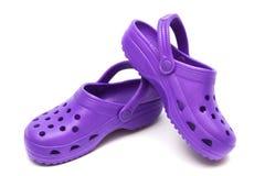 purpur sandal royaltyfri fotografi