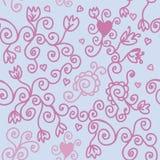 purpur seamless swirl för modell Arkivfoto