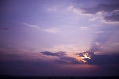 purpur sky royaltyfri bild