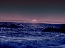 purpur solnedgång Arkivfoton