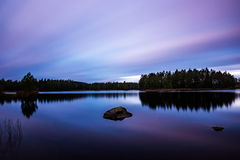 purpur solnedgång Arkivbild