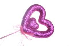 purpur sparkle för hjärtaförälskelse arkivfoto