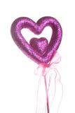 purpur sparkle för hjärtaförälskelse arkivbild