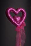 purpur sparkle för hjärtaförälskelse Royaltyfria Foton