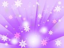Purpur sprudelt Hintergrund-Durchschnitt-Blumen-Licht und Strahlen lizenzfreie abbildung