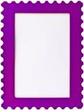 purpur stämpel för rambildfoto Arkivbilder