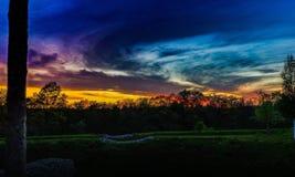 purpur sun Royaltyfri Fotografi