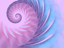 purpur swirl för blå patterpink Arkivfoton