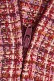 purpur textilzipper för bakgrund Royaltyfri Fotografi
