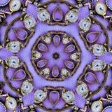Purpura Łamający zegarka kalejdoskop Obrazy Royalty Free