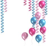 purpura ballons 3d Royaltyfria Bilder