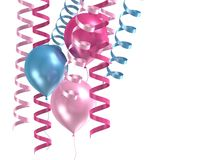purpura ballons 3d Royaltyfri Bild