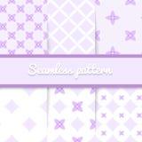 Purpura deseniuje ślicznych wektorowych bezszwowych lekkich tła Zdjęcie Royalty Free