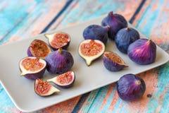 purpura figs Royaltyfri Fotografi