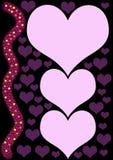 purpura hjärtor vektor illustrationer