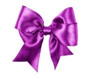 Purpura łęk robić od jedwabiu Zdjęcia Stock