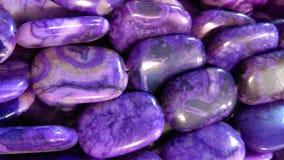 Purpura Kołysa Gemstone tło Zdjęcie Stock