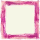 Purpura malująca rama Fotografia Stock