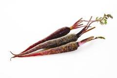 purpura morötter Arkivfoton