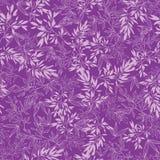 Purpura rozgałęzia się bezszwowego deseniowego tło Fotografia Royalty Free