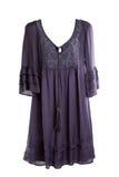 purpura s kvinnor för klänning Royaltyfri Bild