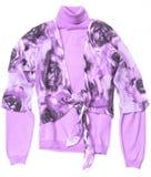 purpura s kvinnor för pullover Royaltyfria Bilder