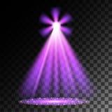 purpura strålkastarear plats stor ljus deltagarekapacitet för effekter vektor illustrationer