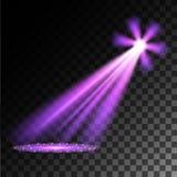 purpura strålkastarear plats stor ljus deltagarekapacitet för effekter stock illustrationer