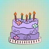 Purpura tort Zdjęcia Stock