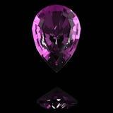 Purpurfärgad ädelsten Royaltyfri Fotografi