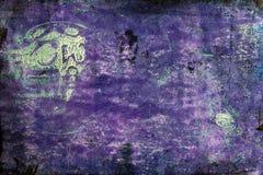 Purpurfärgad abstrakt Grungebakgrund med dimensionella beståndsdelar royaltyfri bild