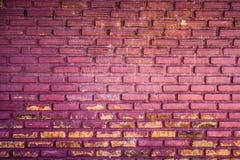 Purpurfärgad bakgrund för grungetegelstenvägg Royaltyfria Bilder
